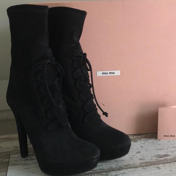 e819bfbc643c Miu Miu Black suede boots. M 5b9c2492aa57196876ae9d5f